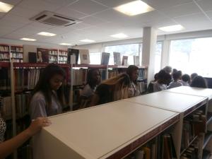 Explorando la biblioteca para elegir un texto...